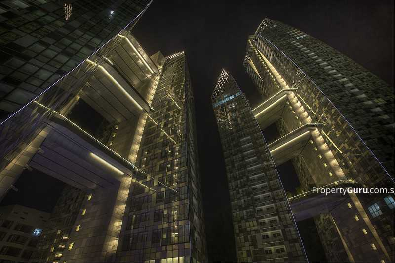 View Of Building in Night